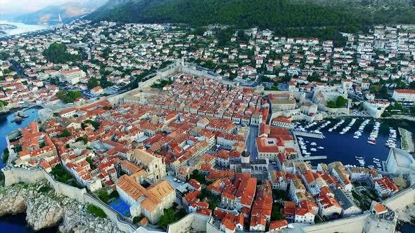 Dubrovnik city walls in Croatia.