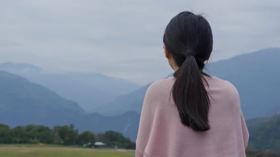 Thumbnail for Woman enjoy the view in countryside