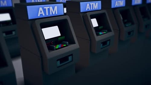 Automated Teller Machine Or Atms Together 4k