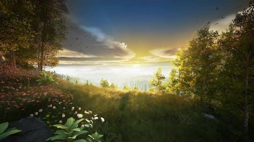 dawn at Mountain Top 4k