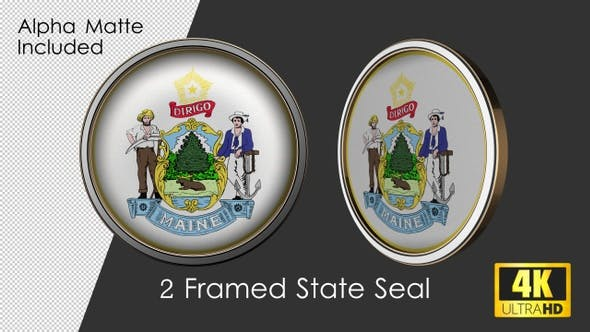 Thumbnail for Framed Seal Of Maine State