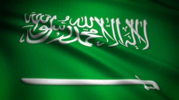 Thumbnail for Saudi Arabia Flag Seamless Loop