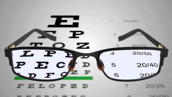 Thumbnail for Spectacles With Eye Examination Chart 02