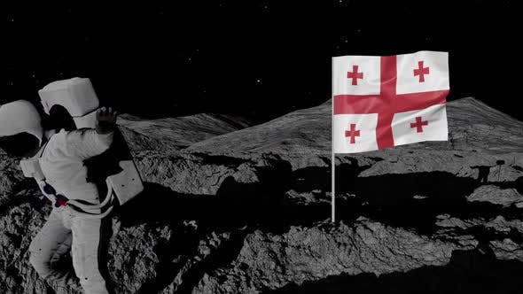 Thumbnail for Astronaut Planting Georgia Flag on the Moon
