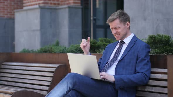 Thumbnail for Frustrated Businessman Working on Laptop