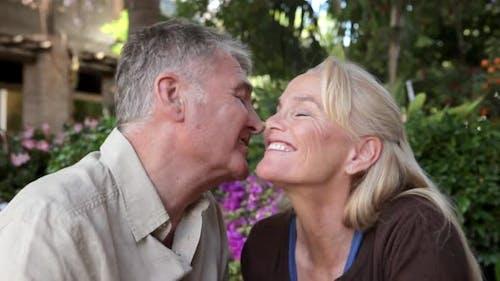 Affectionate mature couple