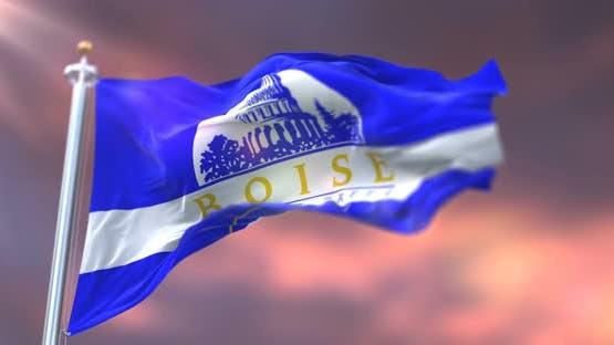 Boise City Flag, Idaho, United States