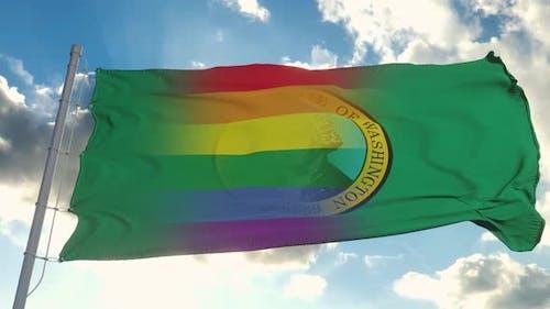 Flag of Washington and LGBT