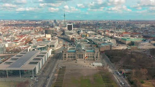 Aerial View. Reichstag in Berlin