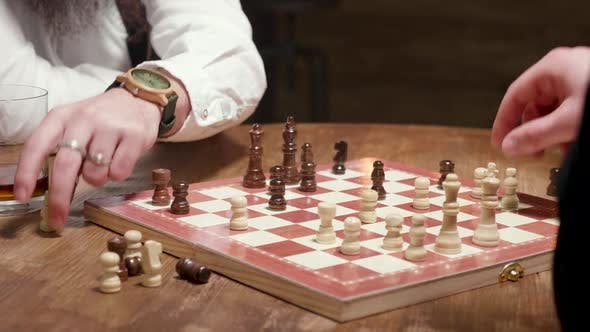 Thumbnail for Man Gets a Checkmate During a Chess Game