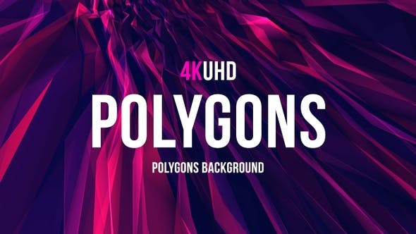Thumbnail for Polygons Background  UHD 4k