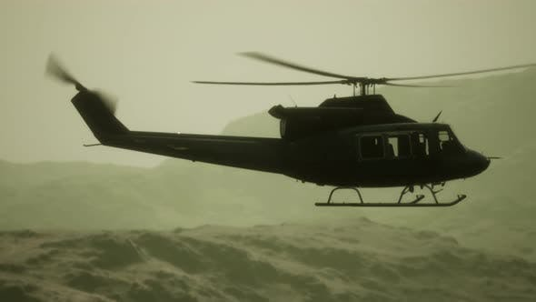 Thumbnail for Slow Motion United States Military Helicopter in Vietnam