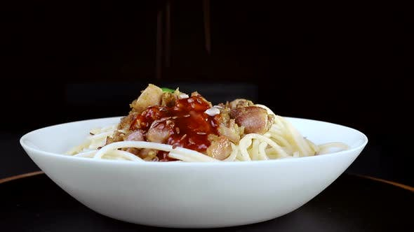 Thumbnail for Pasta With Meat and Sauce
