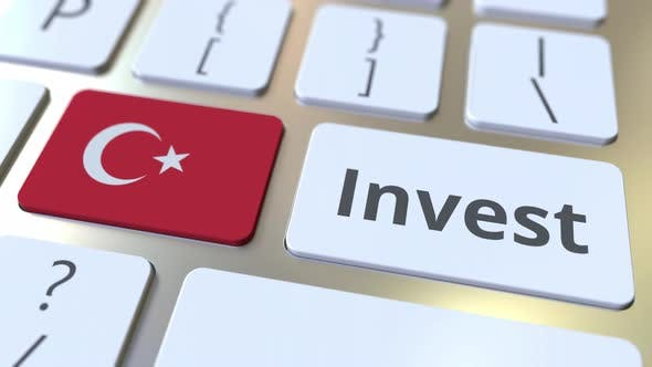 Thumbnail for INVEST Text and Flag of Turkey on the Keyboard