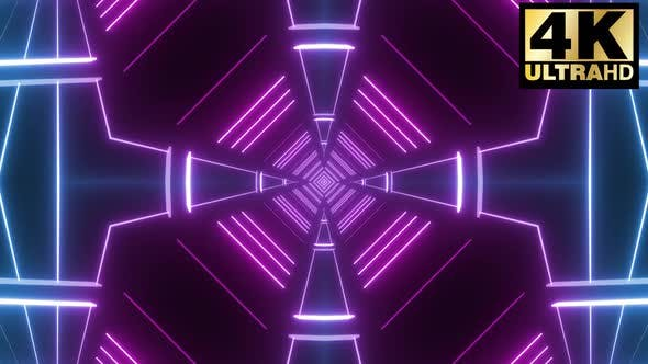 4 Abstract Neon Tunnel Vj Loops Pack