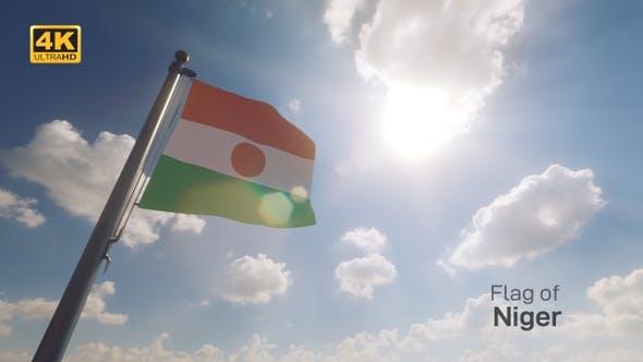 Thumbnail for Niger Flag on a Flagpole V2 - 4K