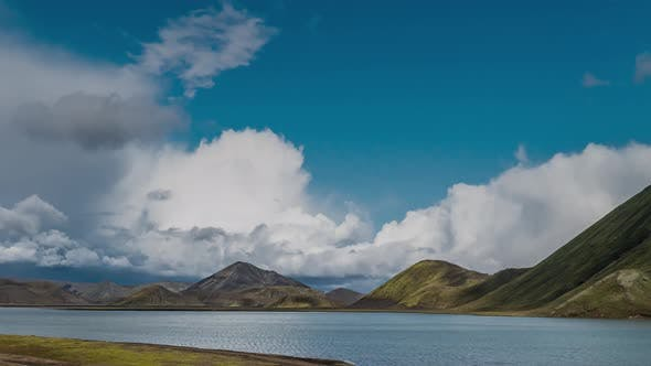 Thumbnail for Clouds Move Over the Beautiful Landscape of Iceland