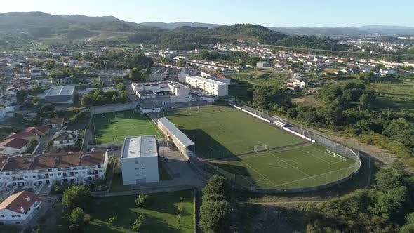 Thumbnail for Aerial View of Urban Soccer Fields