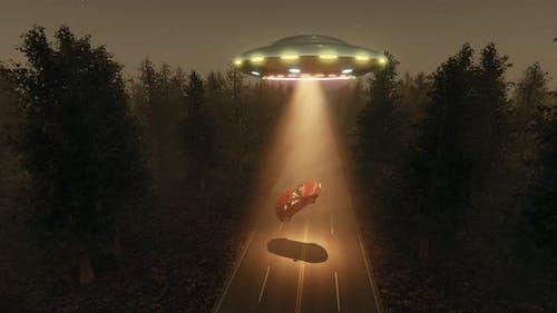 Car Flying Saucer Alien UFO Technology Science