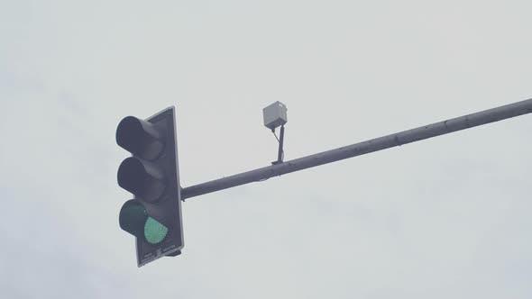 Traffic Light Changing And Electronic Sensors