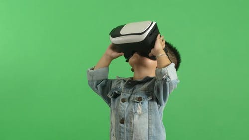 Little Boy In VR Glasses