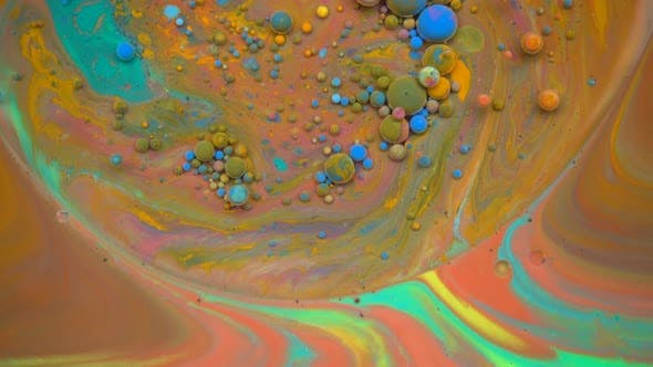 Various Liquid Paints Mixing