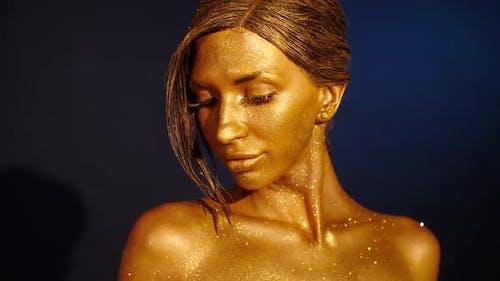 Golden Shining Makeup