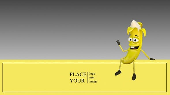 Thumbnail for Banana Advertises The Company By Sitting And Greeting