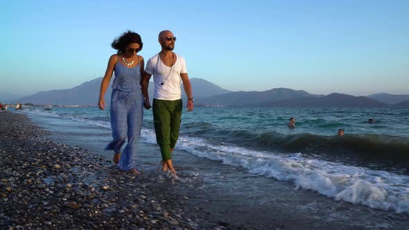 Cover Image for Love Happy Couple On The Beach