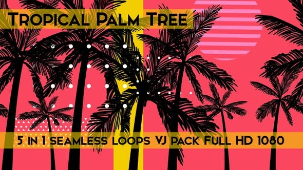 Thumbnail for Tropical Palm Tree VJ Loops