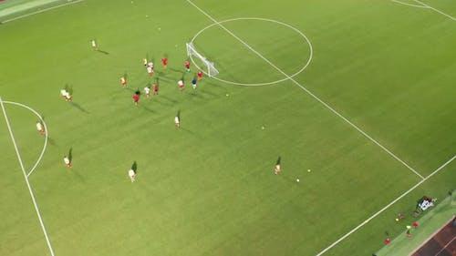 Soccer Stadium Training Night Above