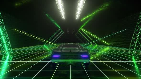 3d Cyberpunk Retro Style