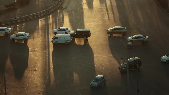 Thumbnail for Heavy Traffic During the Golden Hour Before the Sunset