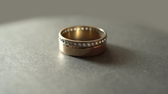 Thumbnail for Rotation Wedding Ring With Diamonds