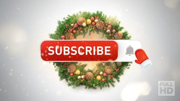 Thumbnail for Youtube Subscribe Button (Christmas Edition)