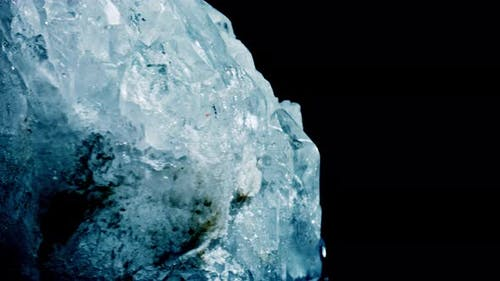 Mineral Celestine. The Texture of the Mineral. Macro Shooting of Natural Gemstone. The Raw Mineral