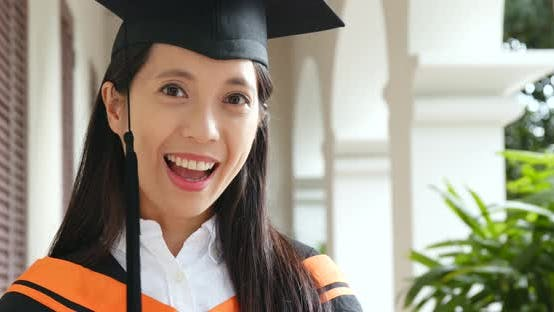 Thumbnail for Young Woman Get Graduation in University Campus