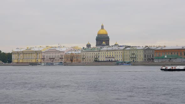 Thumbnail for Embankment of Neva River in Saint Petersburg in Daytime