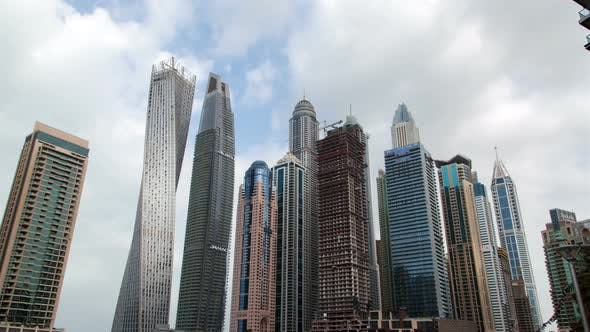 Thumbnail for Dubai Marina Skyscrapers Hyperlapse