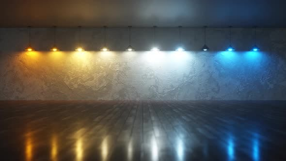 Background with Incandescent Lamps