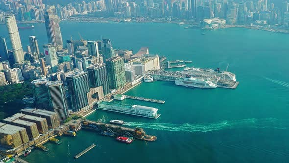 Thumbnail for Hong Kong Aerial View, Timelapse,