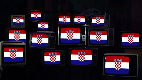 Thumbnail for Flags of Croatia and Retro TVs.