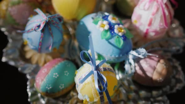 Thumbnail for Plate with Decorative Easter Eggs