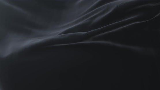 Black Cloth or Silk Waving