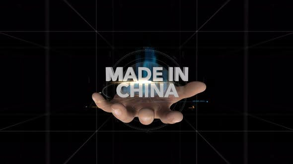 Thumbnail for Hand Reveals Hologram   Made In China