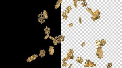 Flying Currency Dollar Symbols V3