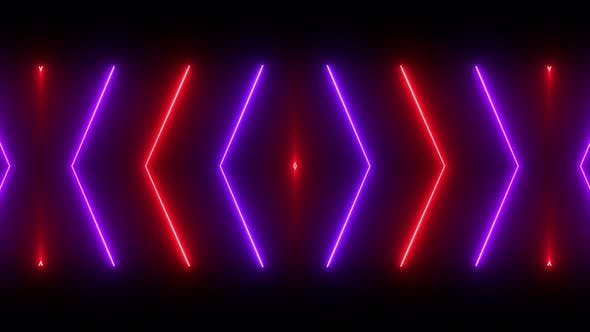 Cover Image for Red And Purple VJ Neon Loop 4K