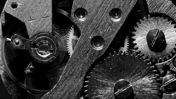 Thumbnail for Watch Mechanism Macro loop.Old Vintage Clock Mechanism Working