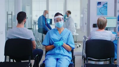 Medical Nurse with Face Mask