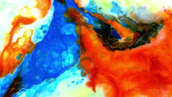 Thumbnail for Color Explosion Abstrakte Kunst Malerei 491